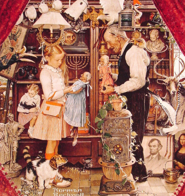 Norman Rockwell. Shop of curiosities