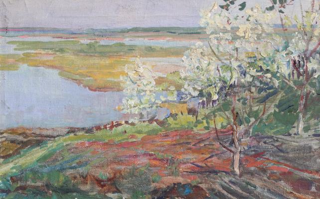 Vasily Fadeevich Demin. Spring in Akisheno