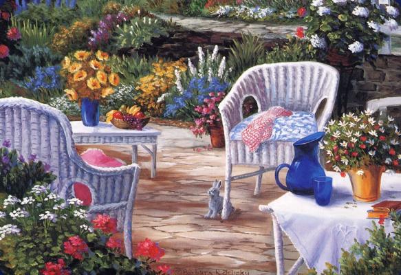 Барбара Фелиски. Весна в саду