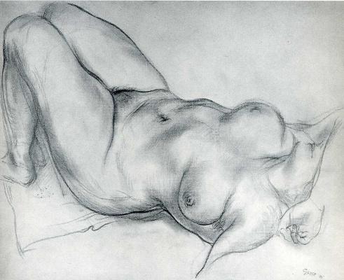 George Grosz. Reclining Nude