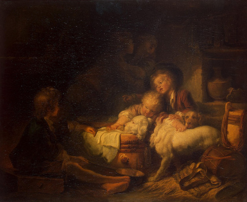 Jean Honore Fragonard. Children of farmer