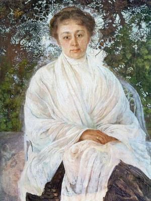 Isaac Brodsky. Portrait of Maria Fedorovna Andreeva