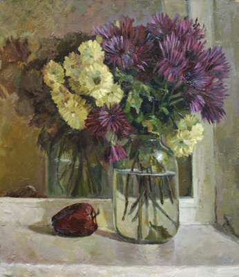 Alexander Dmitrievich Svistunov. Flowers on the window