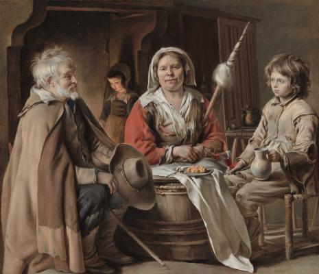 Антуан, Луи и Матье Ленен. Крестьянский интерьер