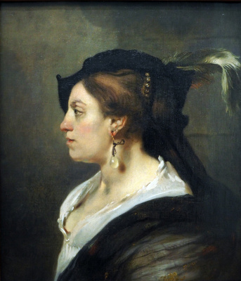 Karel Fabricius. Portrait of woman in profile