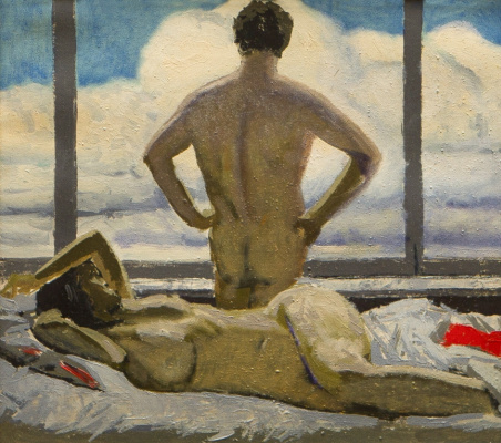 Гелий Михайлович Коржев. Двое на фоне окна (Утро)