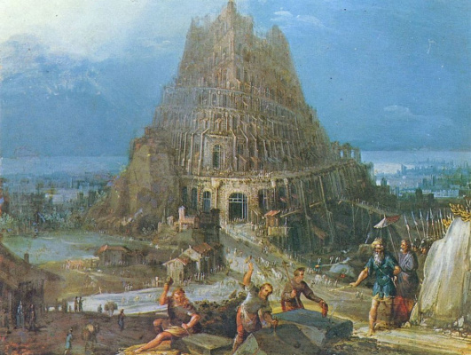Jan Bruegel The Elder. The construction of the tower of Babel