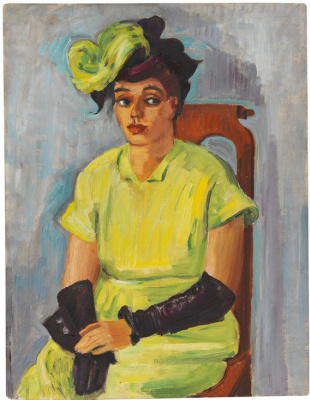 Max Pehshtein. Portrait of Fred in a yellow dress