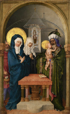 Stefan Lochner. Bringing to the temple. About 1447
