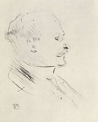 Henri de Toulouse-Lautrec. Portrait Of V. G. B. Sana