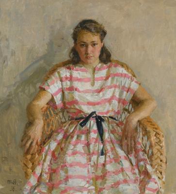 Tetyana Yablonska. Portrait of the artist's daughter