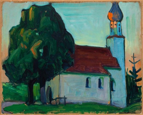 Gabriele Münter. The Village Church
