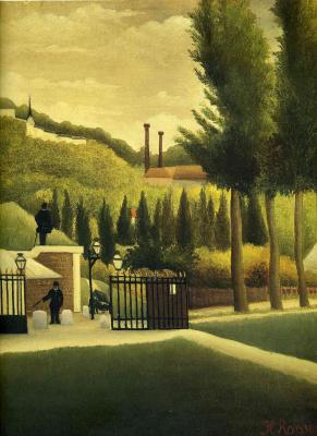 Henri Rousseau. Customs gate