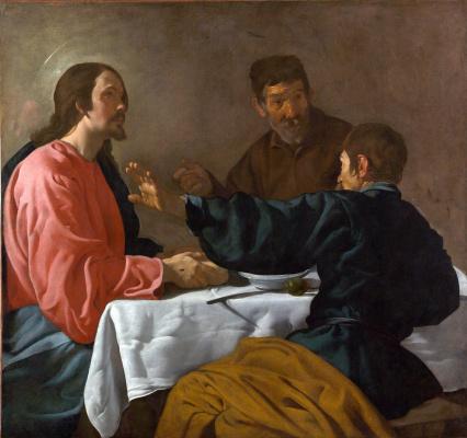 Diego Velazquez. Christ at Emmaus