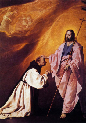 Francisco de Zurbaran. The vision of brother andré