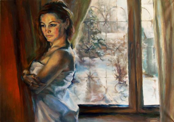 Ольга Шаблей. Зима. В раздумьях. Таня