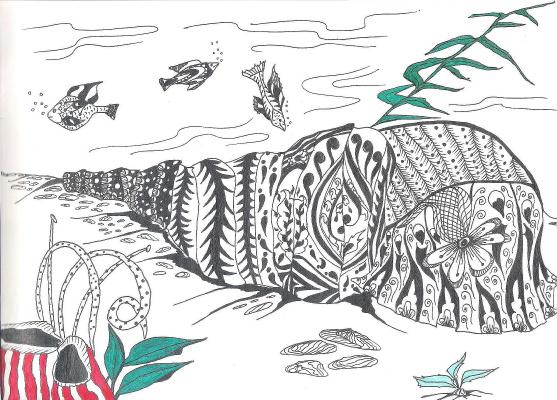 "Nikolai Nikolaevich Olar. Series of stylized drawings: ""Underwater fantasy"" (18)"