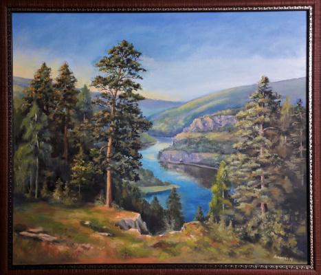 Alina Anatolyevna Asvalova. Khakassia View of the Yenisei