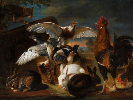 Де Конинк Дэвид. Птичий двор или Аллегория бдительности