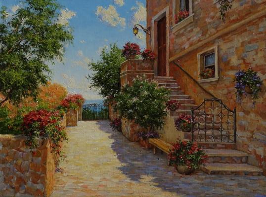 Irina Nikolaevna Borisova. Italian courtyard