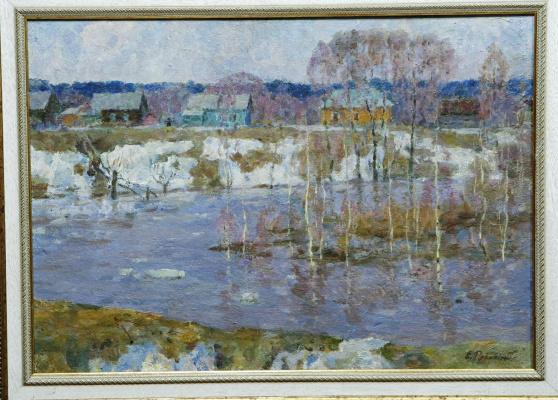 E. Rybinski. Spring flood