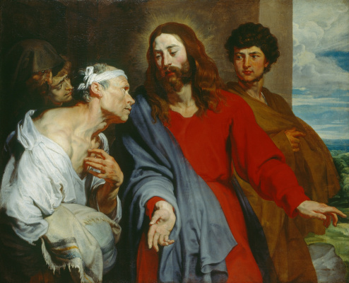 Anthony van Dyck. Christ heals a paralytic
