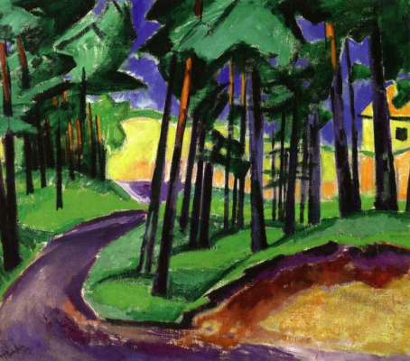 Max Pehshtein. Forest with a high dune