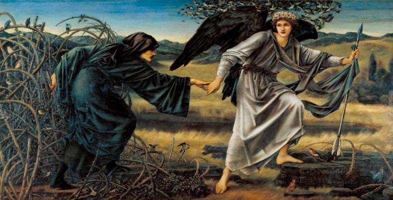 Edward Coley Burne-Jones. Love and Pilgrim