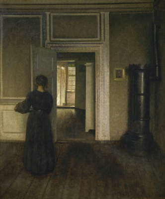 Vilhelm Hammershøi. Interior with oven