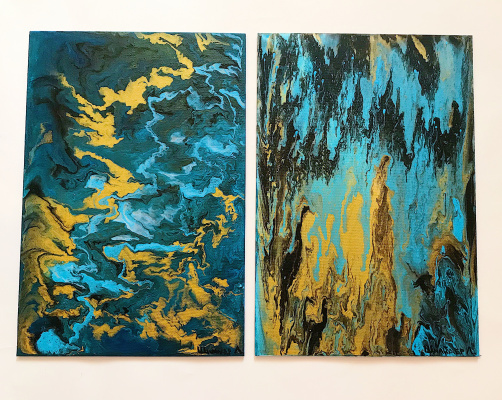 Liza Schneider. Diptych. Time source