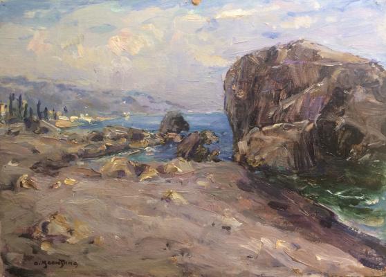Olga Sergeevna Malyutina. Crimea. Coastal cliffs