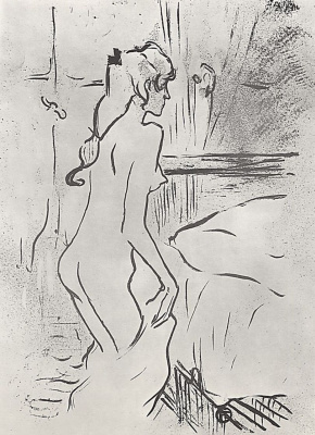 Анри де Тулуз-Лотрек. Женщина в комнате