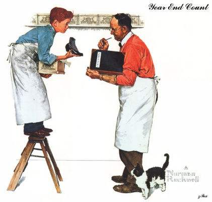 Norman Rockwell. Summing up at the end of the year