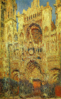 Claude Monet. Rouen Cathedral at sunset