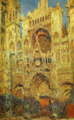 Клод Моне. Руанский собор на закате