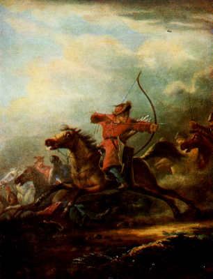 Alexander Osipovich Orlovsky. Battle. Sumy Art Museum. Nikanor Onatsky, Ukraine