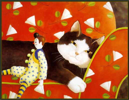 Диана Джексон. Кот на диване