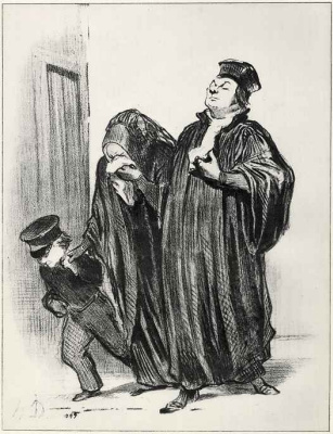 Honore Daumier. - You lost to the process, but you have to be satisfied with my speech!