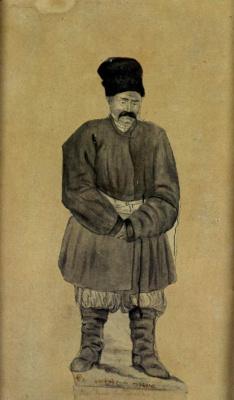 """Taras Grigorievich Shevchenko. """"Behold my father"""". 1839-1841б blur, feather"""
