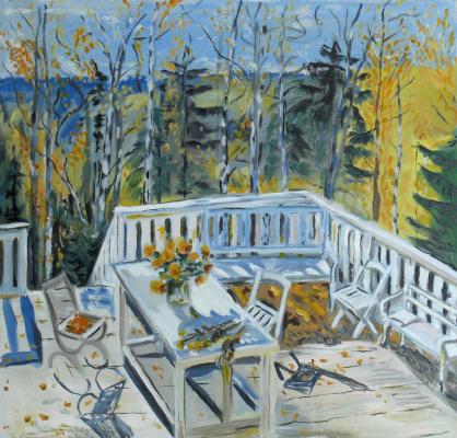 Anna Akchurina. Zhukovsky. Abandoned veranda. Copy