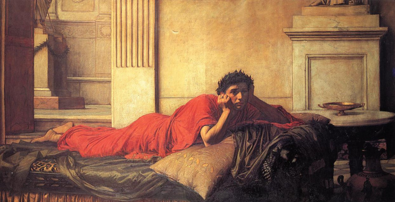John William Waterhouse. The remorse of Nero after the murder of his mother
