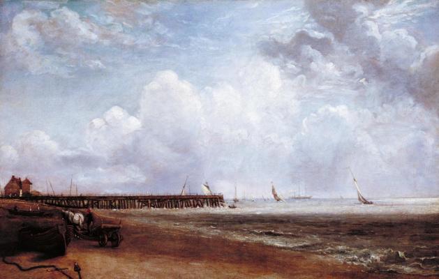John Constable. Yarmouth pier