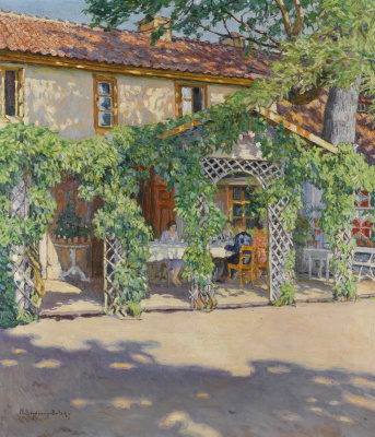 Nikolay Petrovich Bogdanov-Belsky. The cottage in the summer