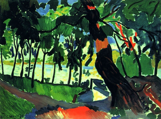 Andre Derain. Tree, Landscape on the River Bank
