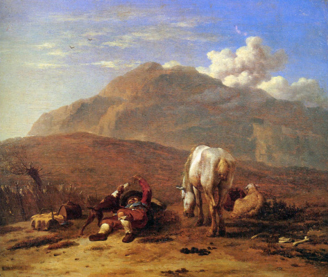 Ду Ярдин. Пастух играет со своей собакой