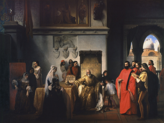 Francesco Ayets. Doge Francesco Foscari demotion