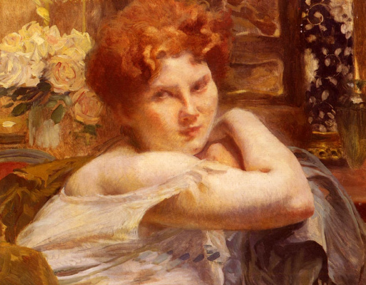 Поль Альберт Бенар. Женщина с рыжими волосами