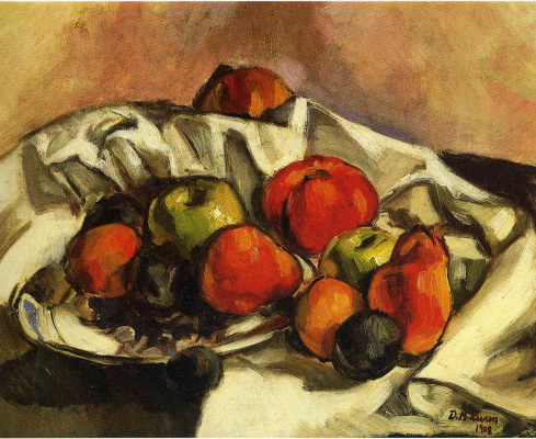 Diego Maria Rivera. Still life with apples