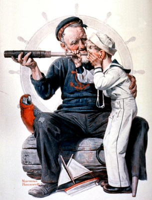 Norman Rockwell. Sailors