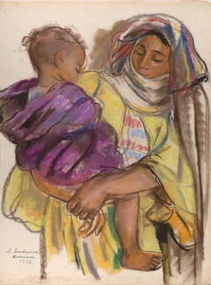 Zinaida Serebryakova. A Moroccan woman with a baby in her arms. Marrakech